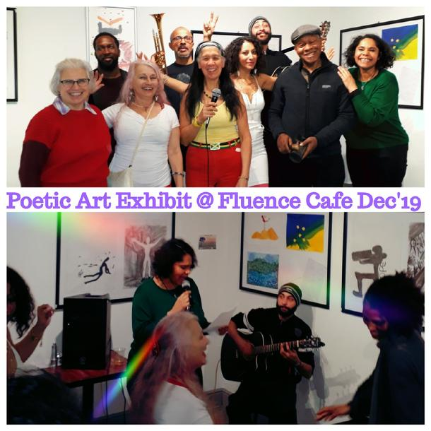 Green Angels led the way, to Poetic Art at Fluence Cafe in Ladbroke Grove, via Kamitan Arts, aka Poetry4Grenfell ~ Poetic Art, West London